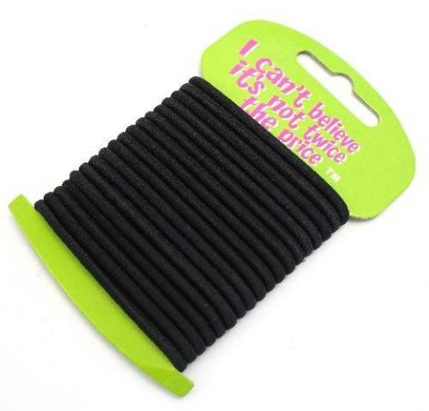 No Metal Black Elastics Hair Accessories